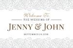 Wedding Banner 1 36 x 24 Horizontal