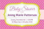 Baby Shower Banner 1 36 x 24 Horizontal)