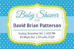 Baby Shower Banner 2 36 x 24 Horizontal)