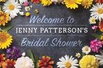 Bridal Shower Banner 1 36 x 24 Horizontal