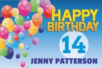 Happy Birthday Banner 2 36 x 24 Horizontal