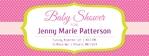 Baby Shower Banner 1 96 x 36 Horizontal