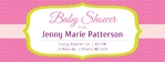 Baby Shower Banner 1 96 x 36 Horizontal
