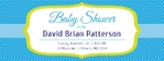 Baby Shower Banner 2 96 x 36 Horizontal