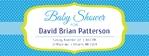 Baby Shower Banner 2 96 x 36 Horizontal
