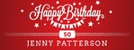 Happy Birthday Banner 1 96 x 36 Horizontal