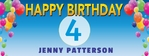 Happy Birthday Banner 2 96 x 36 Horizontal