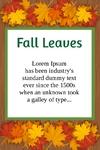 Fall Leaves 24 x 36