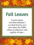 Fall Leaves 18 x 24