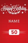 Happy Birthday Banner 1 24 x 36 Vertical