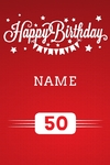 Happy Birthday Banner 1 24 x 36 Vertical