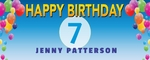 Happy Birthday Banner 2 60 x 24 Horizontal