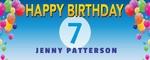 Happy Birthday Banner 2 60 x 24 Horizontal