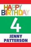 Happy Birthday Banner 2 24 x 36 Vertical
