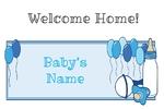 Welcome Home New Baby Boy 36 x 24 Horizontal