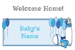 Welcome Home New Baby Boy 36 x 24 Horizontal