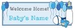 Welcome Home New Baby Boy 96 x 36 Horizontal