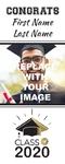 Graduation Banner 3 24 x 60 Vertical