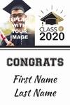 Graduation Banner 3 24 x 36 Vertical