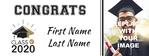 Graduation Banner 3 96 x 36 Horizontal