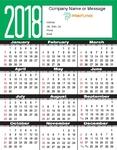 Year at a Glance Calendar - Portrait